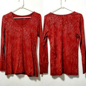 a.n.a Maroon Top W/ Splattered Gold M